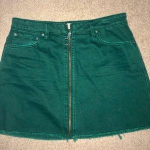 zip up jean skirt